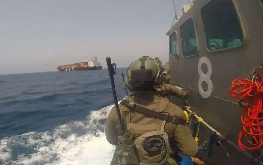 Israeli Navy responds to incident aboard foreign cargo ship