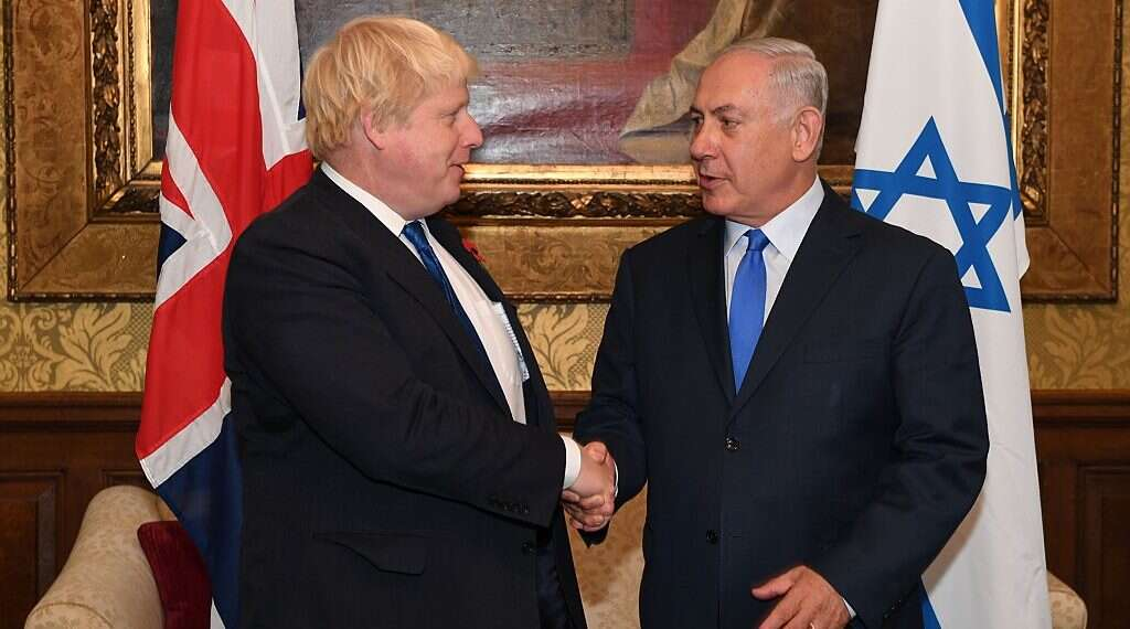 Image result for boris johnson with britain jews