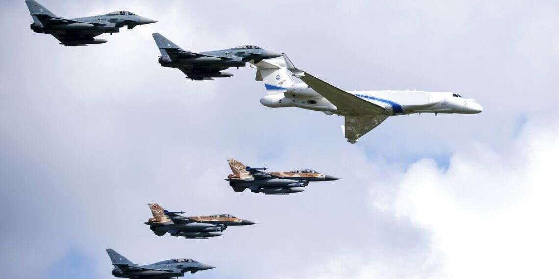 'Never Again': Israeli and German Jets Fly Together Over Dachau Concentration Camp
