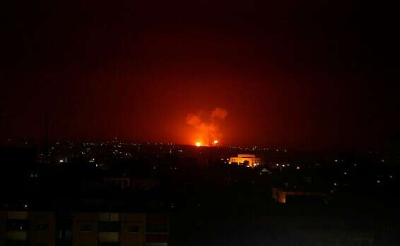 Israel carries out retaliatory strikes on Syrian army targets