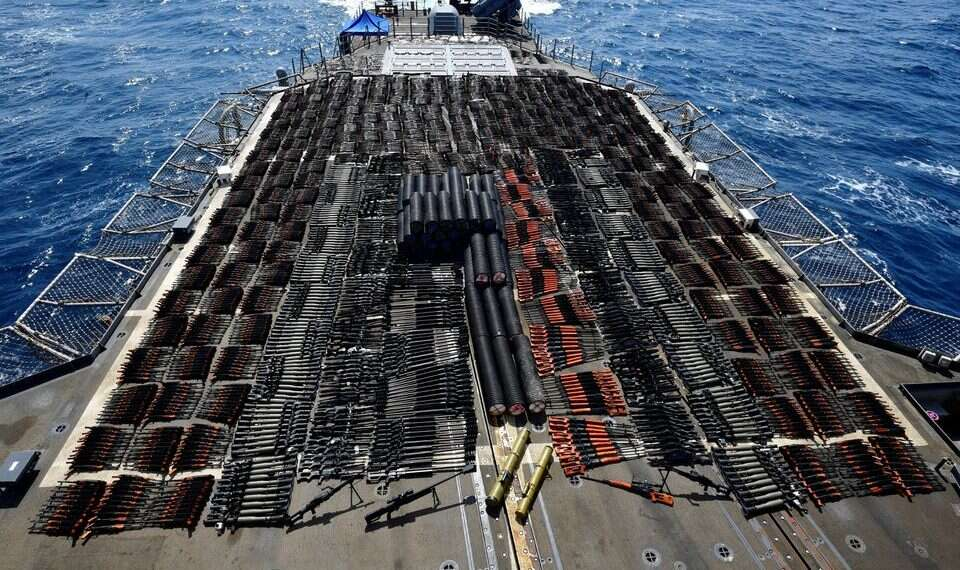 USseizes massive weapons shipment from Iran to Yemen's Houthis